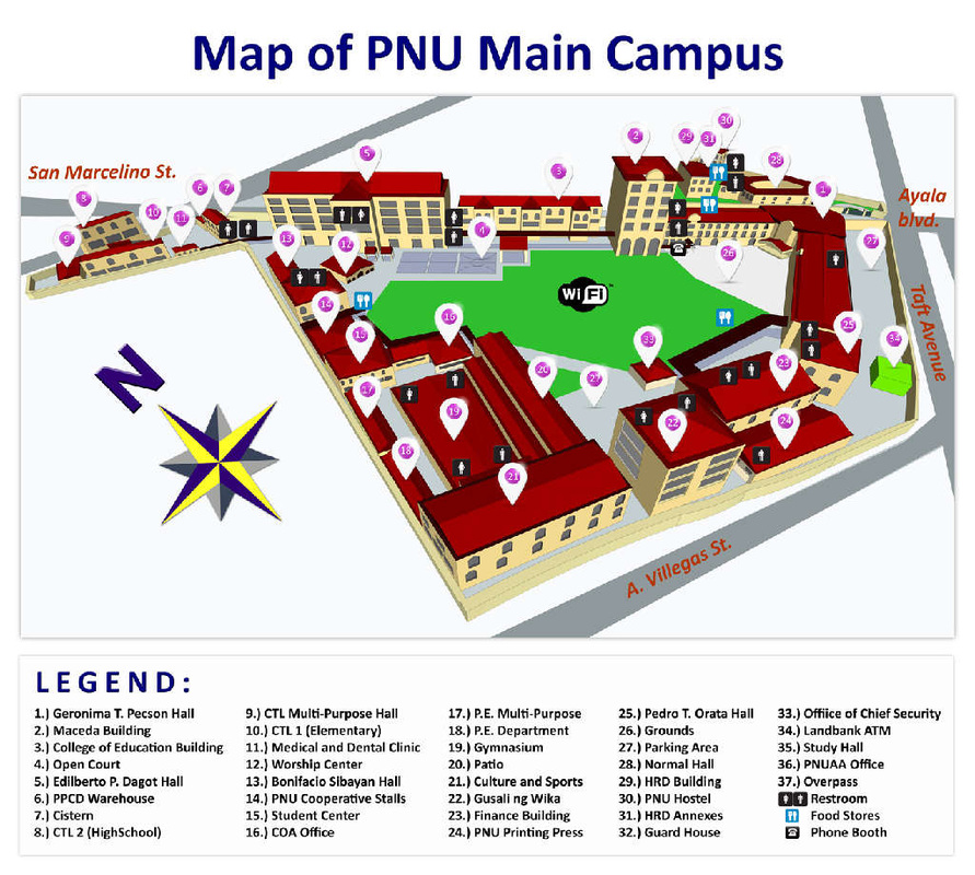 Coa Campus Map.Campus Map College Of Science